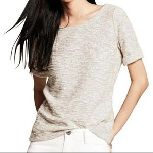 Banana Republic Women's Cream Metallic Blouse Top